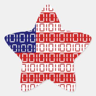 digital Flag (USA) Star Sticker