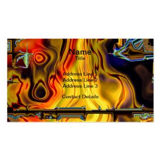 Digital Flames and Metal Matrix Pack Of Standard Business Cards