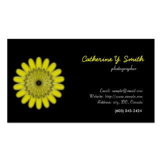 digital floral, elegant, black business card templates