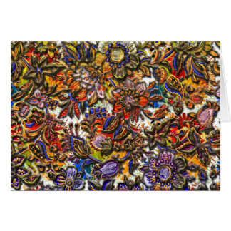 Digital Floral Pattern Art Greeting Card