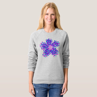 DIGITAL FLOWER EXPLOSION GREY RAGLAN SWEATSHIRT