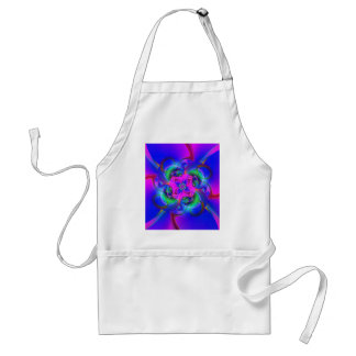 Digital Flower pink and blue Aprons