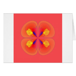 Digital flowers card