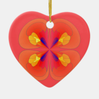 Digital flowers christmas ornament