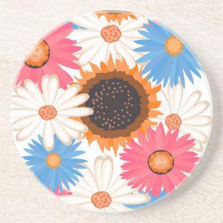 Digital Flowers  Coaster