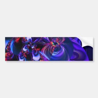 Digital Flowers purple by Tutti Bumper Sticker