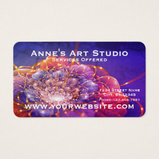 Digital Fractal Floral Business Card