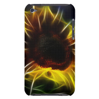Digital Fractal Sunflower Barely There iPod Cover