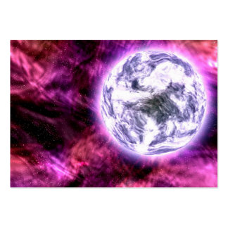 Digital Galaxy Alien Planet In Space Pink Nebula Business Card Templates