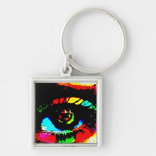 Digital Graffiti Eye Key Ring