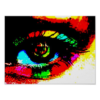 Digital Graffiti Eye Poster