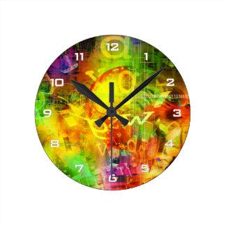 Digital Graffiti Wall Clock