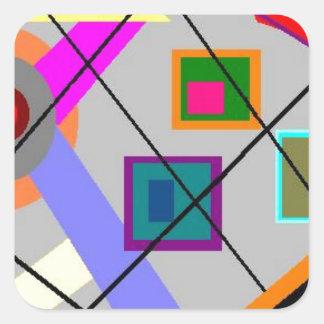 Digital Harmony Square Stickers