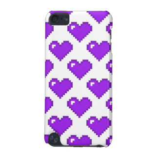 Digital Heart Pattern; Purple iPod Touch (5th Generation) Cases