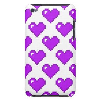 Digital Heart Pattern Purple iPod Case-Mate Cases