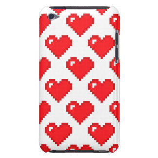 Digital Heart Pattern Red iPod Case-Mate Cases