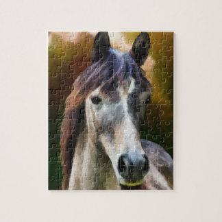 Digital horse portrait painting jigsaw puzzle