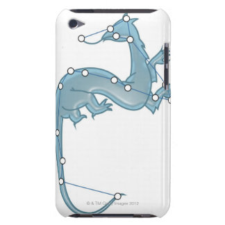 Digital illustration of a dragon representing barely there iPod covers