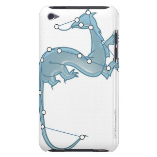 Digital illustration of a dragon representing iPod touch case