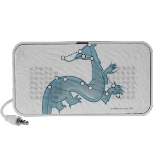 Digital illustration of a dragon representing PC speakers