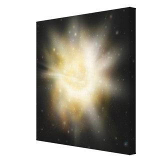 Digital Illustration of a Solar System Canvas Print