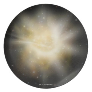 Digital Illustration of a Solar System Dinner Plates