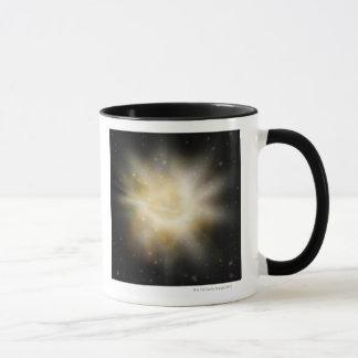 Digital Illustration of a Solar System Mug