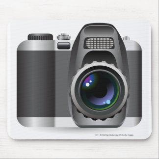 Digital illustration of digital camera mouse mat