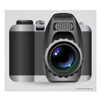 Digital illustration of digital camera poster