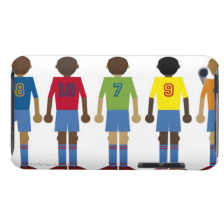 Digital illustration of five football players, Case-Mate iPod touch case