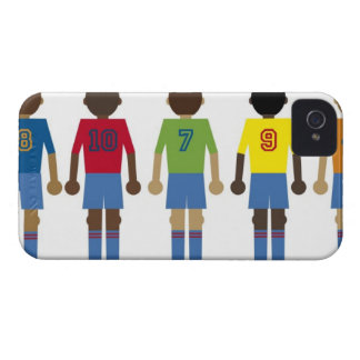 Digital illustration of five football players, iPhone 4 Case-Mate case
