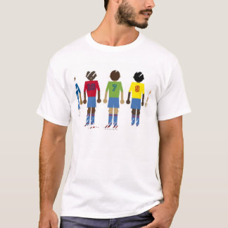 Digital illustration of five football players, T-Shirt