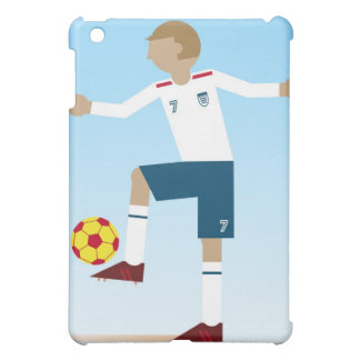 Digital illustration of football player wearing case for the iPad mini