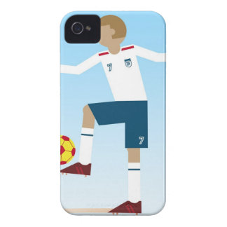 Digital illustration of football player wearing iPhone 4 cases