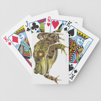 Digital illustration of Green Frog Bicycle Playing Cards
