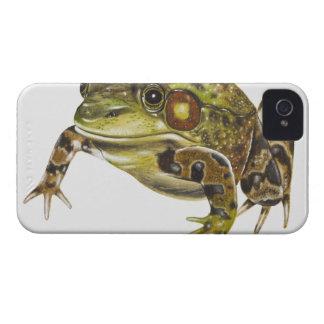 Digital illustration of Green Frog iPhone 4 Cases