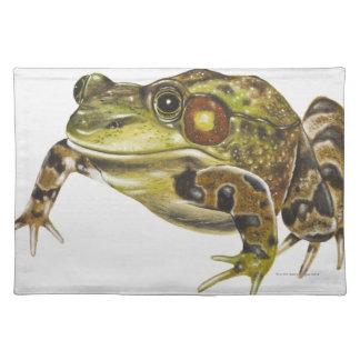 Digital illustration of Green Frog Place Mats