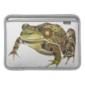 Digital illustration of Green Frog Sleeve For MacBook Air