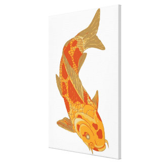 Digital illustration of Koi Carp Canvas Print