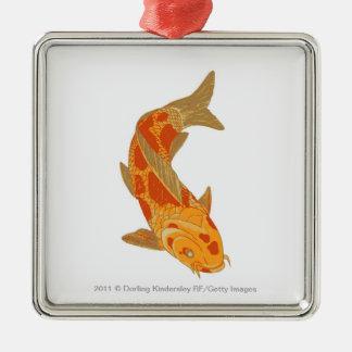 Digital illustration of Koi Carp Christmas Ornament