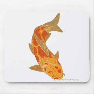 Digital illustration of Koi Carp Mouse Mat