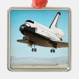 Digital illustration of Space Shuttle Christmas Ornament