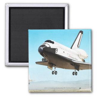 Digital illustration of Space Shuttle Square Magnet