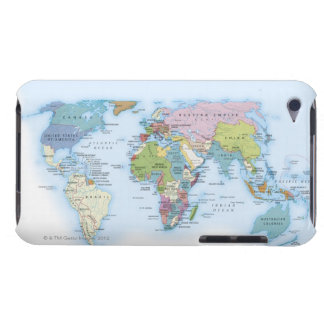 Digital illustration of the world in 1900 barely there iPod cases