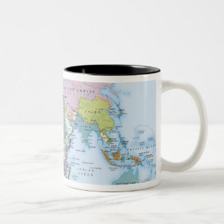 Digital illustration of the world in 1900 Two-Tone coffee mug