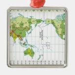 Digital illustration of world map showing time