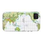 Digital illustration of world map showing time vibe iPhone 4 cover