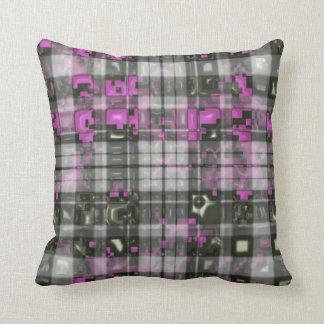 Digital Liquid Plaid Cushion