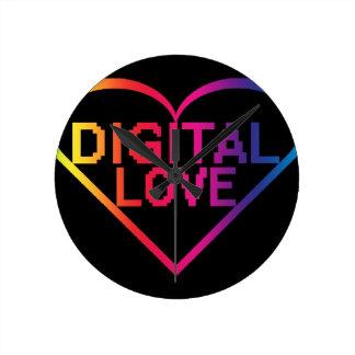digital love RBG Round Wall Clocks