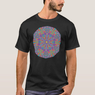 Digital Mandala Kaleidoscope T-shirt